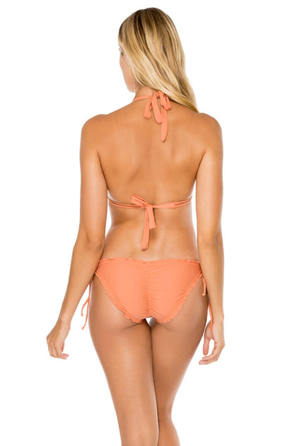 COSITA BUENA - Halter Triangle Top & Wavey Ruched Back Full Tie Side Bottom • Azafran