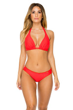 COSITA BUENA - Halter Triangle Top & Full Ruched Back Bottom • Girl On Fire