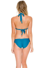 COSITA BUENA - Halter Triangle Top & Full Ruched Back Bottom • Miramar
