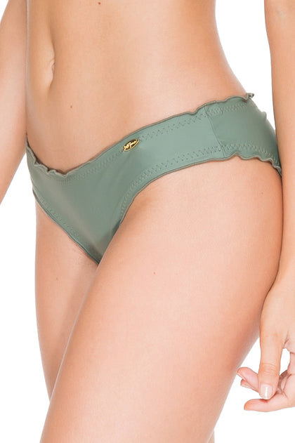 COSITA BUENA - Halter Triangle Top & Full Ruched Back Bottom • Army