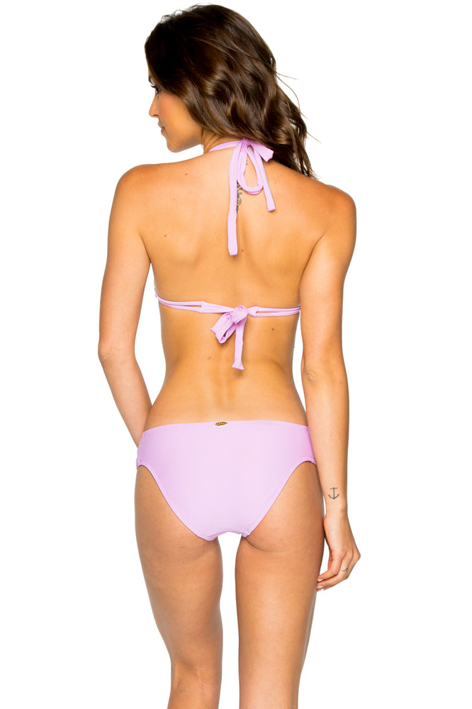 COSITA BUENA - Halter Triangle Top & Scrunch Side Full Bottom • Lavanda