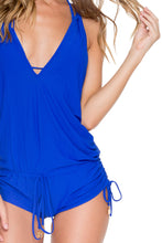 COSITA BUENA - T Back Romper • Electric Blue