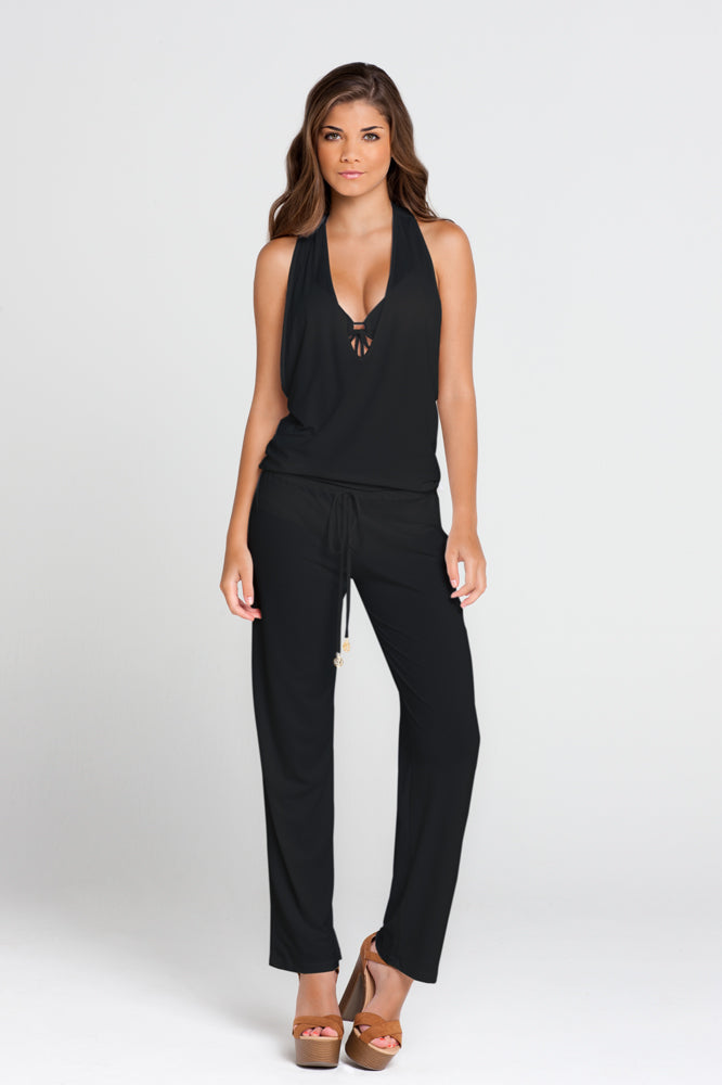 COSITA BUENA - T Back Long Jumpsuit • Black