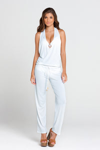 COSITA BUENA - T Back Long Jumpsuit • White