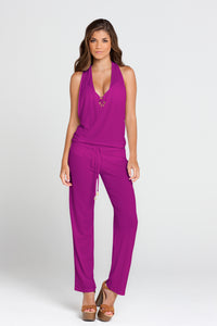 COSITA BUENA - T Back Long Jumpsuit • Dancing Orchid