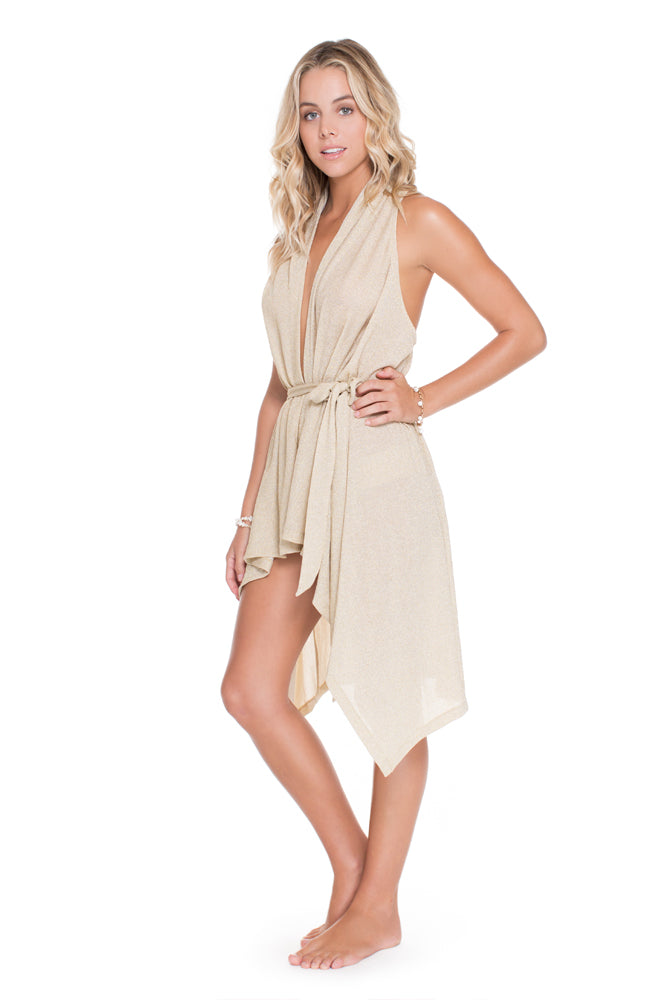COSITA BUENA - Beach Wrap Vest • Gold Rush