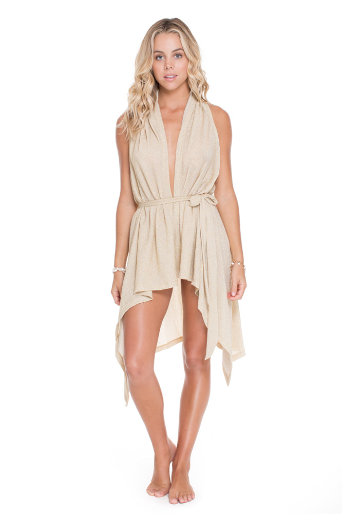 COSITA BUENA - Beach Wrap Vest • Gold Rush (1005645758508)