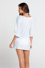 COSITA BUENA - Ruffle V Neck Dress • White