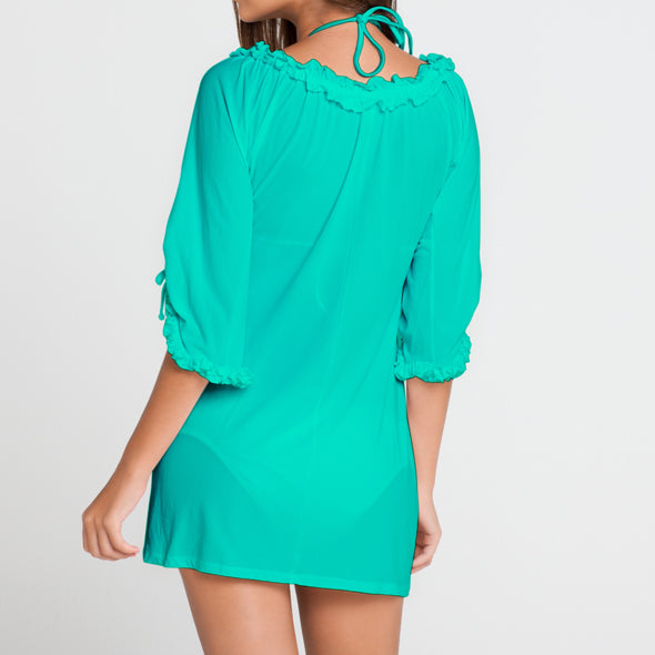 COSITA BUENA - Ruffle V Neck Dress-LBC