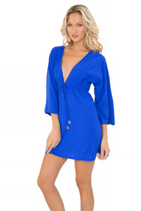 COSITA BUENA - Long Sleeve Tunic • Electric Blue
