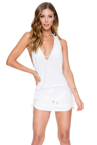 COSITA BUENA - T Back Mini Dress • White