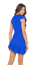 COSITA BUENA - Unwrap Me Mini Dress • Electric Blue