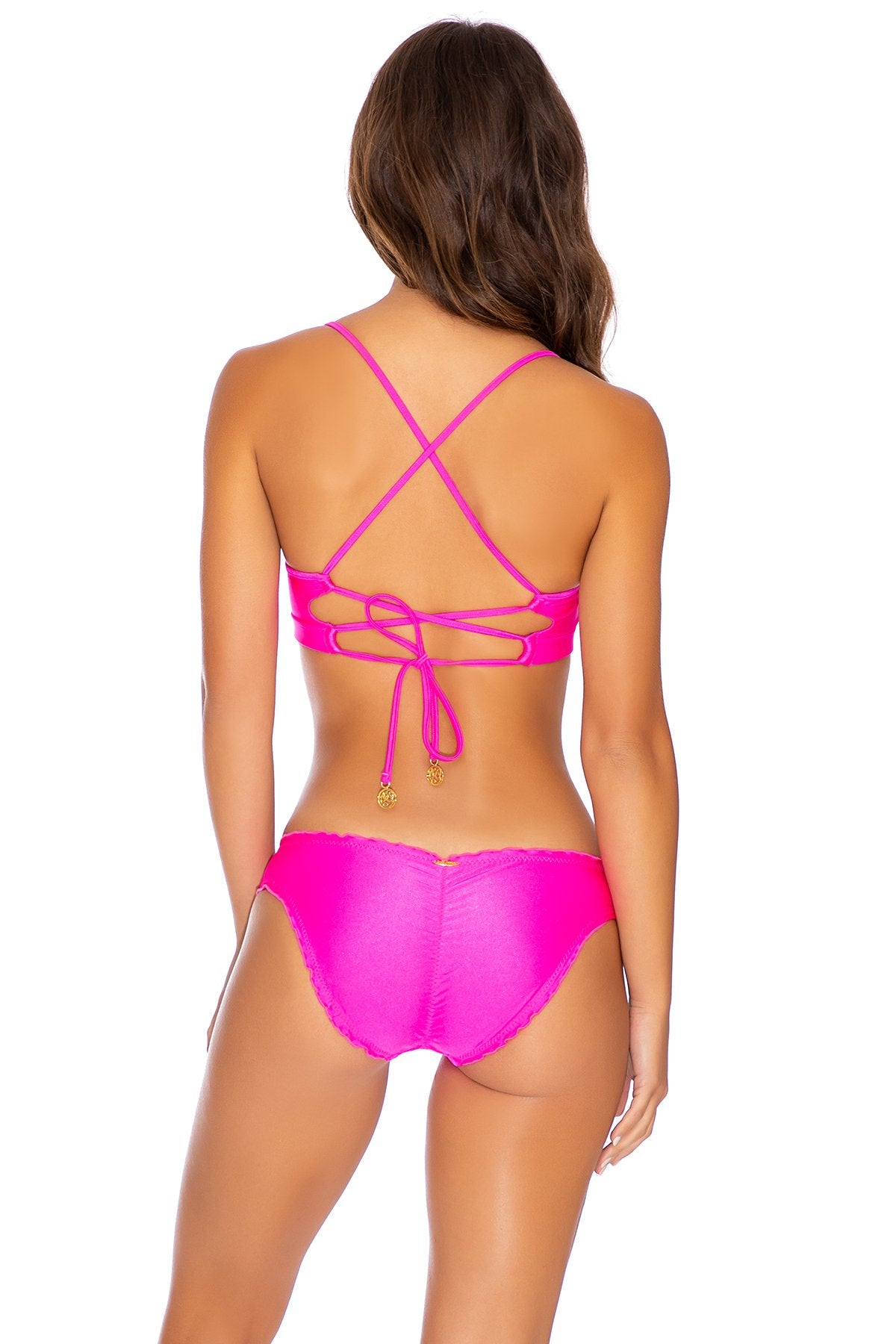 COSITA BUENA - Underwire Top & Seamless Full Ruched Back Bottom • Poppin Pink