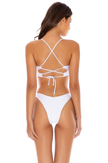 COSITA BUENA - Underwire Top & High Leg Bottom • White
