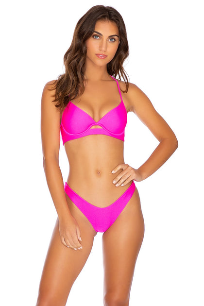 COSITA BUENA - Underwire Top & High Leg Bottom • Poppin Pink