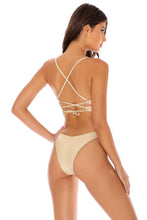COSITA BUENA - Underwire Top & High Leg Bottom • Gold Rush