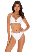 COSITA BUENA - Underwire Top & High Leg Banded Waist Bottom • White