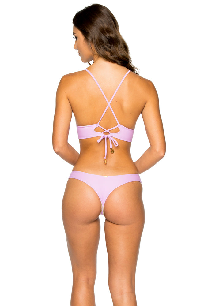 COSITA BUENA - Cross Back Bustier Top & Reversible Buns Out Bottom • Lavanda