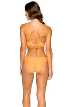 COSITA BUENA - Cross Back Bustier Top & Seamless Ruched Back Full Bottom • Melon