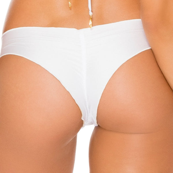 COSITA BUENA - Drawstring Ruched Brazilian Bottom-WAC