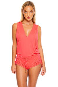 COSITA BUENA - T Back Romper • Bombshell Red