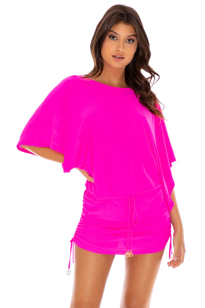 COSITA BUENA - South Beach Dress • Poppin Pink