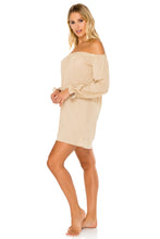 COSITA BUENA - Cuff Bell Sleeve Dress • Gold Rush