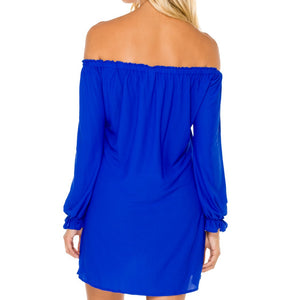 COSITA BUENA - Cuff Bell Sleeve Dress-WAC