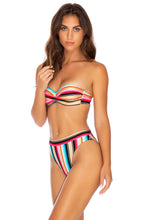 GOLDMINE - Underwire Push Up Bandeau Top & High Leg Banded Waist Bottom • Multicolor