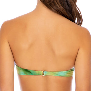 OFF DUTY MERMAID - Underwire Push Up Bandeau Top