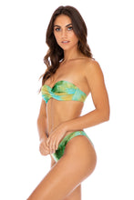 OFF DUTY MERMAID - Underwire Push Up Bandeau Top & High Leg Bottom • Multicolor