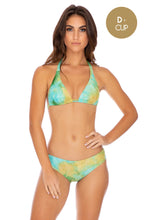 OFF DUTY MERMAID - Triangle Halter Top & Seamless Full Ruched Back Bottom • Multicolor