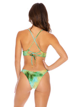 OFF DUTY MERMAID - Cross Back Bustier Top & High Leg Bottom • Multicolor