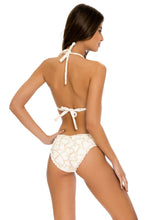 MY LOVE - Triangle Halter Top & Seamless Full Ruched Back Bottom • White
