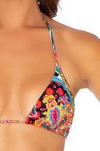 HEARTBREAKER - Triangle Top & Wavey Ruched Back Tie Side Bottom • Multicolor
