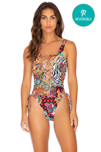 HEARTBREAKER - Open Side One Piece Bodysuit • Multicolor