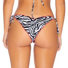 JUNGLE QUEEN - Wavey Ruched Back Tie Side Bottom