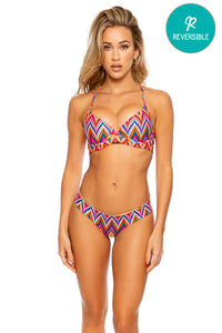 RULE BREAKER - Underwire Top & Seamless Wavy Ruched Back Bottom • Multicolor