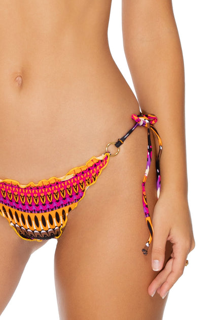 TIMBALES - Crystallized Triangle Top & Wavey Tie Side Brazilian • Multicolor