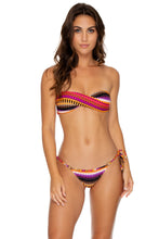 TIMBALES - Twist Bandeau Top & Wavey Tie Side Brazilian • Multicolor