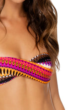 TIMBALES - Twist Bandeau Top & Scrunch Side Moderate Bottom • Multicolor