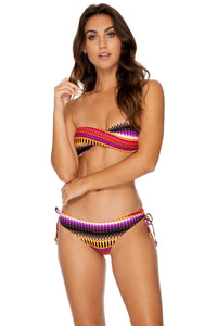 TIMBALES - Twist Bandeau Top & Adjustable Sides Full Bottom • Multicolor