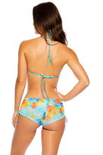 TWISTED MERMAID - Molded Push Up Bandeau Halter Top & Adjustable Sides Short • Multicolor