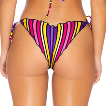 PARTY ANIMAL - Wavey Ruched Back Tie Side Bottom