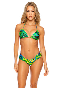 MYSTICAL GARDEN - Wavy Triangle Top & Scrunch Side Moderate Bottom • Multicolor