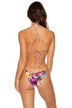 JARDIN SECRETO - Molded Push Up Bandeau Halter & Gathered Back Tie Side Moderate • Multicolor
