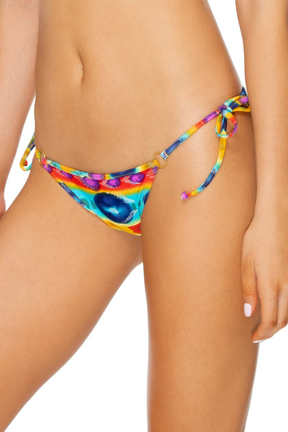 OCHO RIOS - Molded Cup Tri Halter & Gathered Back Tie Side Moderate • Multicolor