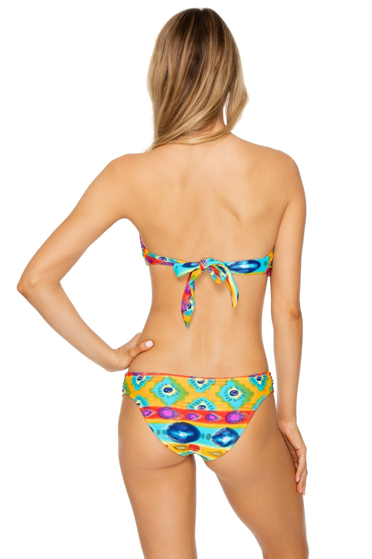 OCHO RIOS - Twist Bandeau Top & Scrunch Side Modrate Bottom • Multicolor