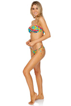 OCHO RIOS - Twist Bandeau Top & Gathered Back Tie Side Brazilian • Multicolor