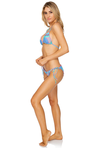 GOTAS DE CRISTAL - Crystallized Wavey Traingle Top & Wavey Full Bottom • Multicolor